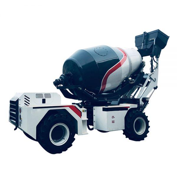 articulated concrete mixer truck