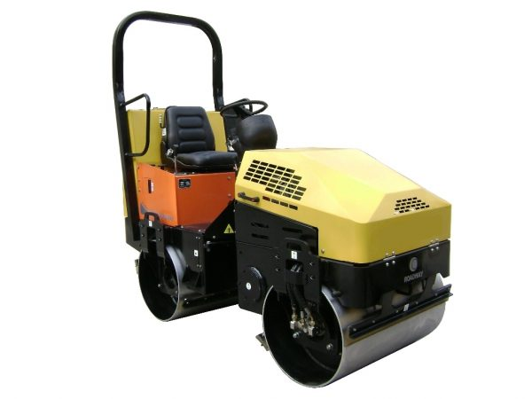 double drum vibratory road roller 1500 kg